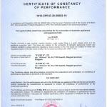 CERTIFICATE EN14800