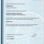 CERTIFICATE ISO 9001:2008 - ENGLISH