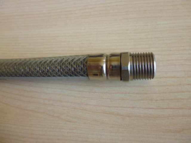 Flexible  metal hose in accordance EN 14800